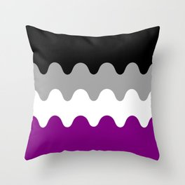 Wavy Asexual Flag Throw Pillow