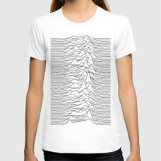 Unknown Pleasures - White SMALL Womens Fitted Tee White