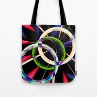 circles Tote Bags featuring circles by haroulita