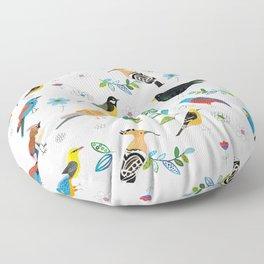 Polish birds Floor Pillow