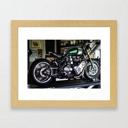 Triumph 1200 Bobber Compressor Framed Art Print