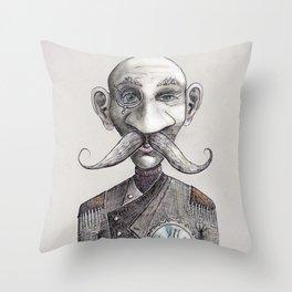 'Admiral Steampunk Z' Throw Pillow