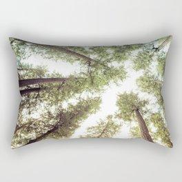 Green Forest Sky Trees Rectangular Pillow