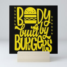 BBQ Burger Barbecue Grill Master Season Gift Mini Art Print
