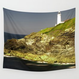 Trevose Head Lighthouse, Cornwall, United Kingdom Wall Tapestry