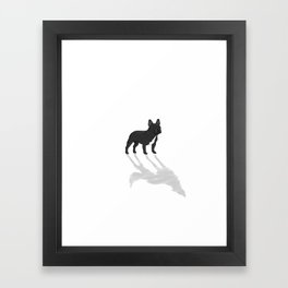 Wild At Heart - Black French Bulldog Framed Art Print