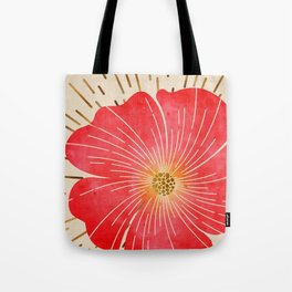 Red Wildflower Tote Bag