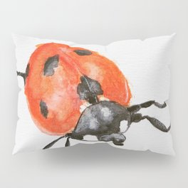 Watercolor Ladybird/Ladybug Pillow Sham