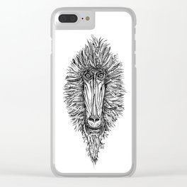 Baboon Clear iPhone Case