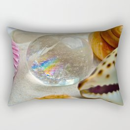 Lemurian Seed Rainbow - The Peace Collection Rectangular Pillow