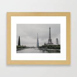 International Cityscape Framed Art Print