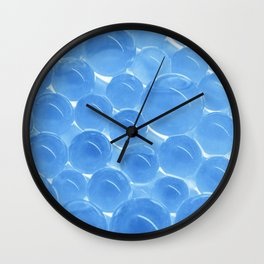 Transparent blue Wall Clock