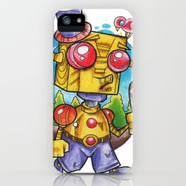 robot stroll iPhone Case