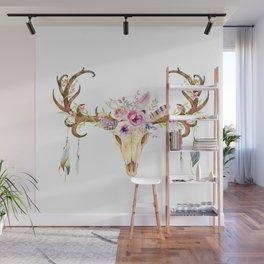 Deer Skull Wall Mural