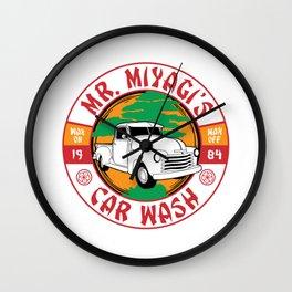 Mr. Miyagi's Car Wash Wall Clock