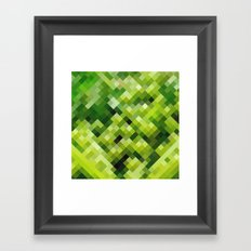 Green diamond pattern Framed Art Print
