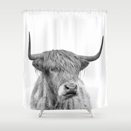 Highland Bull Portrait Shower Curtain