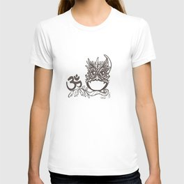 """Ohm"" JujuOwl- Seventh Chakra T-shirt"