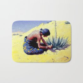 "William Leigh Western Art ""Gathering Peyote"" Bath Mat"