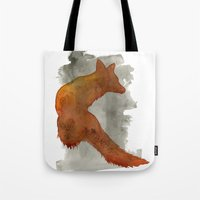 robert farkas Tote Bags featuring Ode to Robert Farkas by Brown Paper Bunny