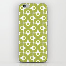 Groovy Mid Century Modern Pattern Chartreuse iPhone Skin