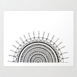 Manadala 1 - Black&White Art Print
