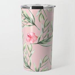 Delicate Hibiscus Pink Travel Mug