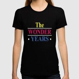 New The Wonder Years Logo Fred Savage Men_s Black savage T-shirt