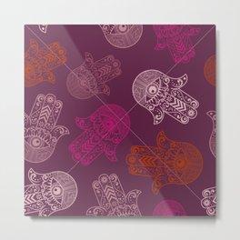 Hamsa Hand Print Metal Print
