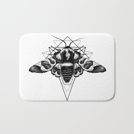 Geometric Moth Bath Mat