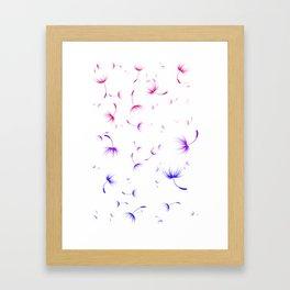 Dandelion Seeds Bisexual Pride (white background) Framed Art Print