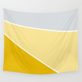 Diagonal Color Block in Yellows and Gray Wall Tapestry