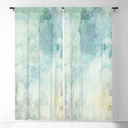 Cloudy watercolor landscape painting, abstract artwork Blackout Curtain