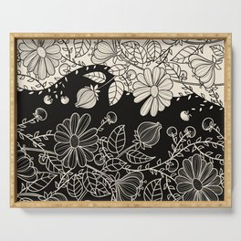 FLOWERS EBONY AND IVORY Serving Tray