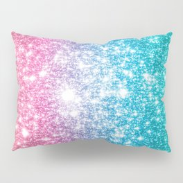 Mermaid Galaxy Sparkle Stars Pillow Sham