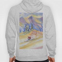 Powder Skiing Art Hoody