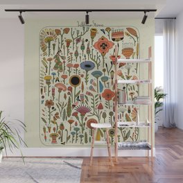 Wildflower Chart Wall Mural