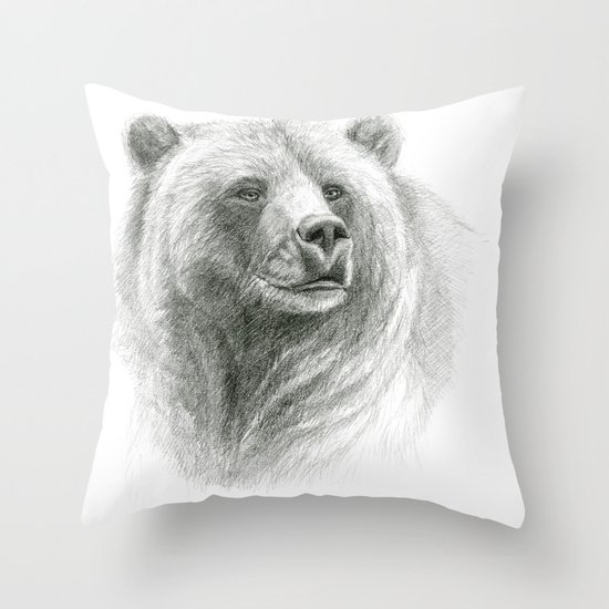 Grizzly Bear G2012-057 Throw Pillow