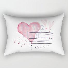 To The Moon (Watercolor) Rectangular Pillow