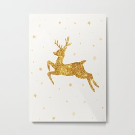 Golden Deer Metal Print