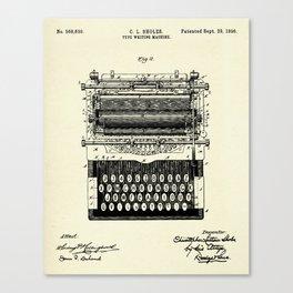 Type Writing Machine-1896 Canvas Print