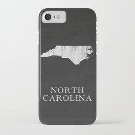 North Carolina State Map Chalk Drawing iPhone Case