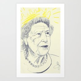 The Queen Art Print