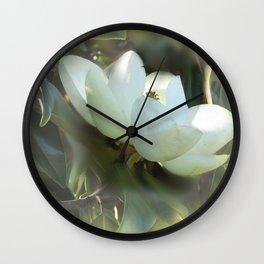 Magnolia Kiss Wall Clock