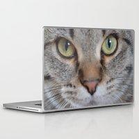 arya Laptop & iPad Skins featuring Cat by Kellie Eickstead