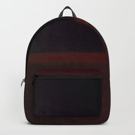 1960 Black on Dark Sienna On Purple by Mark Rothko HD Backpack