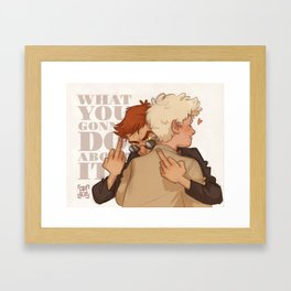 What You Gonna Do? Framed Art Print