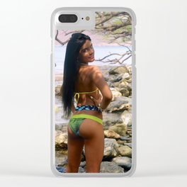 Colombian Exotic Sexy Girl [ Ween Back on the rocks ] Clear iPhone Case
