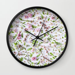 Leaves and flowers pattern (26) Wall Clock
