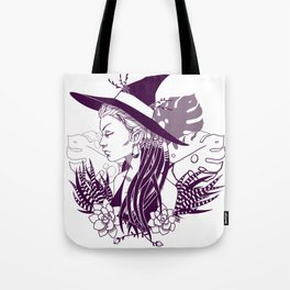 Monstera Witch Tote Bag